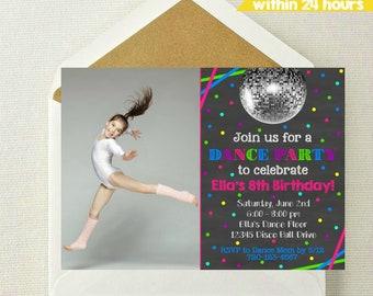 Dance Photo Invitation / Dance Party Photo Invitation / Dancing Invitation / Dance Birthday / Dance / Let's Dance / Dancing Party Invite