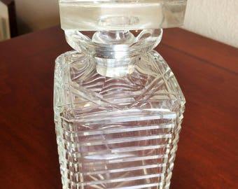 Lead Crystal Cut Glass Modern Decanter