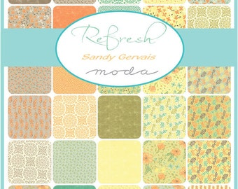 Refresh Charm Pack by Sandy Gervais for Moda - One Charm Pack - 17860PP