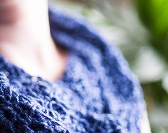 Sapphire Crochet Cowl