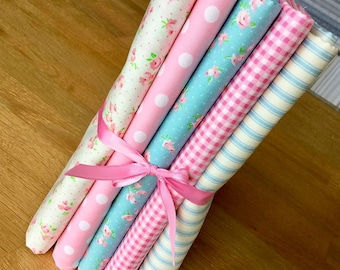 SWEET ROSES Fat Quarter Bundle D by Fabric Freedom 100% Cotton Floral Flowers