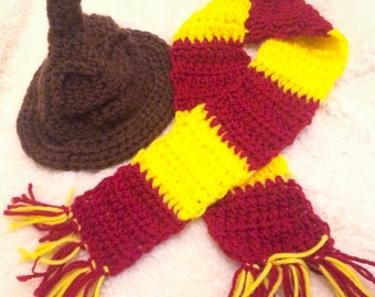 Crochet Harry Potter baby set