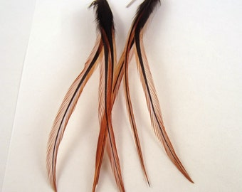 Feather Earrings Natural Furnace real feathers