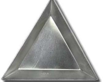 Triangle Bead Scoop Aluminum Sort Tray 1pc