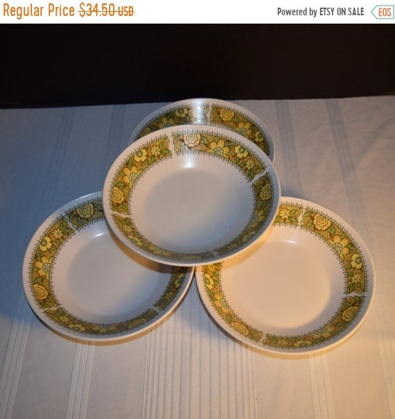 Delayed Shipping Noritake Progression Festival 4 Coupe Soup Bowls Vintage Bowls Set of 4 Cereal Hard to Find 1970s Noritake Replacement Disc