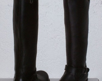 custom engineer boots 15  inches shafts heavy leather