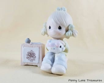 Precious Moments Collectors Club ~ Enesco ~ Little Girl ~ Figurine ~ 1983 ~ Collectible ~ Porcelain Bisque ~ Gift ~ Penny Lane Treasures