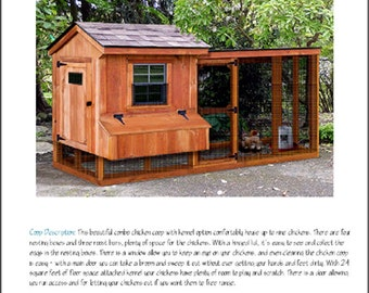 Backyard Chicken Coop Plans with Kennel / Run, Salbox / Lean-to 4 ft x 10 ft Two-in-One Plans, Design 60410SL