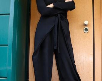Plus Size Jumpsuit, Black Overall, Women Jumpsuit, Black Romper, Wide Leg Jumpsuit, Minimalist Jumpsuit, Gothic Clothing, Women Overall