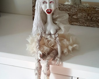 OOAK art doll Icicle, art doll, ooak doll, artist doll
