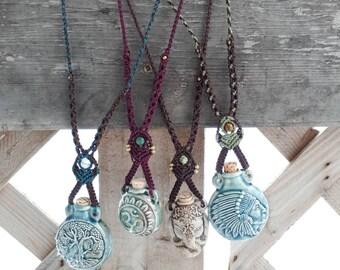 Peruvian Ceramic Bottle Necklaces