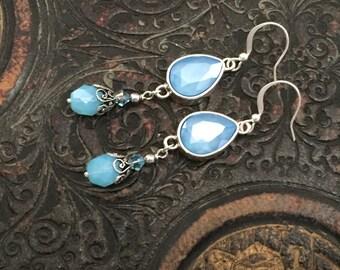 Swarovski Azure Blue earring