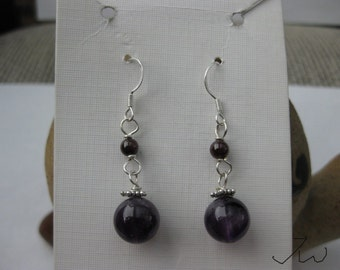 Amethyst .925 sterling silver Earrings