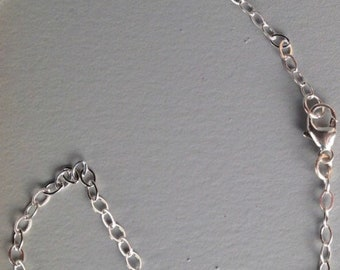 Sterling silver chain, chainlink chain, silver chain, lobster claw chain