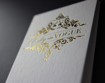 Gold foil business cards - 200 pcs
