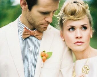 Men's Bow Tie, Men's Ties, Pumpkin Bow Tie, Bowtie, Silk Bow Tie, Wedding Ties, Self Tie Bow Tie
