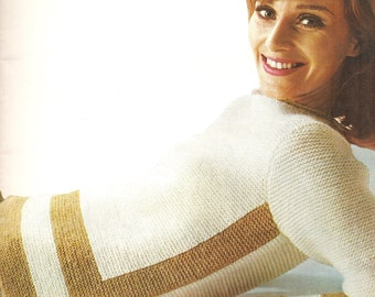 Garter stitch sweater knitting pattern