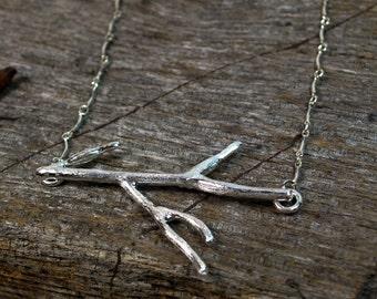 Twig Necklace - Silver Twig Necklace - Gold Twig Necklace - Silver Branch Necklace - Nature Inspired Necklace