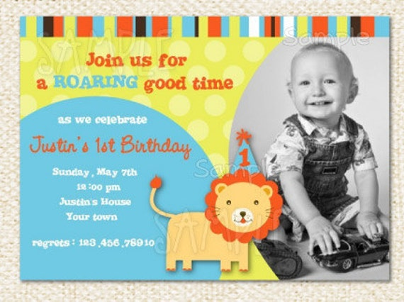 Lion birthday invitations zoom filmwisefo