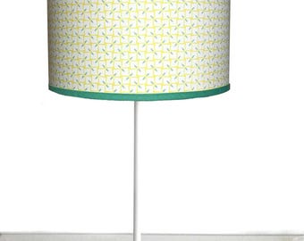 SMALL LAMPSHADE PATTERN VINTAGE GREEN AND YELLOW