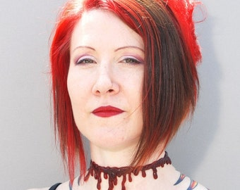 Dripping Blood necklace - Zombie Costume - Bloody Drip  choker necklace - Dark