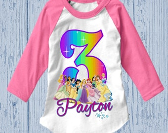 Disney Princess Birthday Shirt or Disney Princess Dress