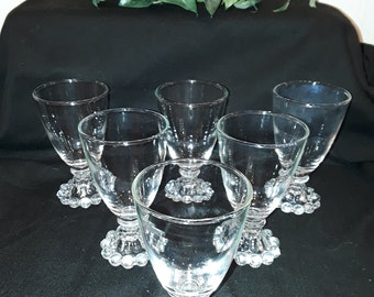 Anchor Hocking Juice Glasses - Boopie Style/Candlewick glass - Set of 6