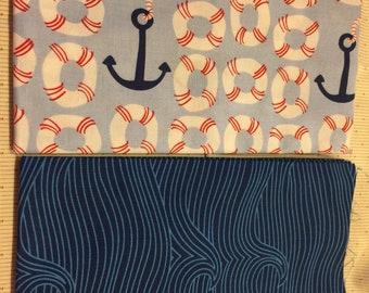 1/2 yd x 2 Ana Davis by Blend fabrics, True Blue
