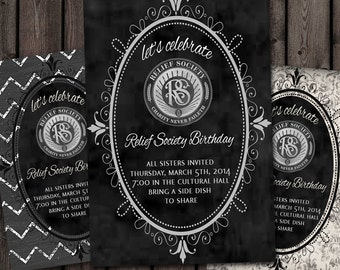 customized Relief Society Invitations (you pick 1)