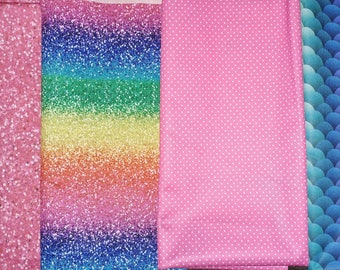 Pink pindot or Rainbow Mermaid Scales - SMALL Wetbag for Cloth Diapers, Wet swimsuits, Sweaty gym gear. 100% PUL.