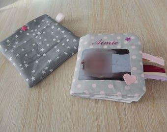 Mini album photos en tissu pour sac à main