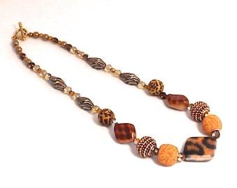 Wild Thing Animal Print Bead Necklace
