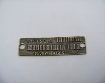 Antique Bronze Code Tag Charm   FIND/ 034
