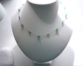 Green Aventurine Semi-precious Necklace - carefully hand knotted