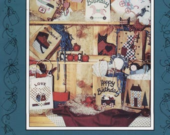 Free Us Ship Pattern Mumm's the Word No Sew Small Celebrations Gift Bag Designs for Special Occasions Debbie Mumm 1990 Unused