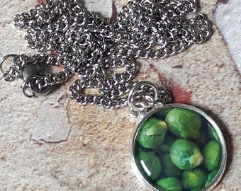 Brussels Sprouts Pendant Necklace