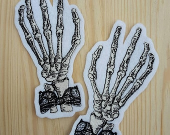 Set 2 Skeletal Hand patches