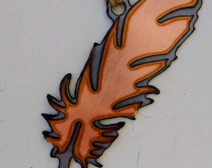 Copper Feather Ornament