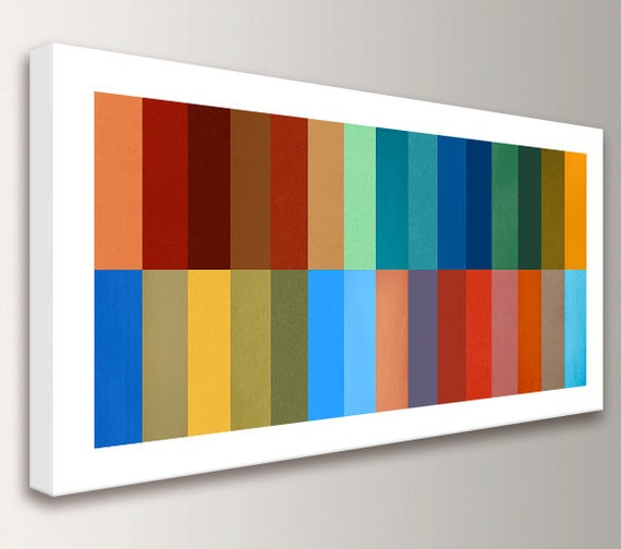 "Mid Century Modern Art Large Wall Art Mid Century Painting Canvas Print Geometric Large Abstract Art Modern Art Geometric Wall Art   ""Gamut"""