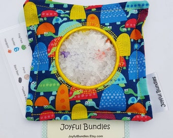 I Spy Bag, Cute Turtles, Car Game, Educational Game, Busy Bag, Travel Toy, I Spy Game, Party Favors, Eye Spy Game, Stocking Stuffer
