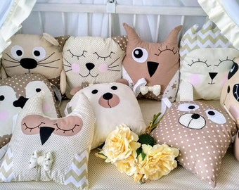 Baby cot bumpers, cradle bumpers, crib bumpers, baby pillow, baby pillows set, nursery