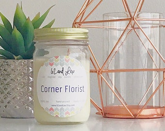 Corner Florist Soy Candle / Soy Candle/Spring Scents/Spring Scented Candle/Easter Candle/Spring Candle/Gift for her/Floral Scented Candle