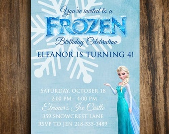 Frozen, Printable Birthday Invitation