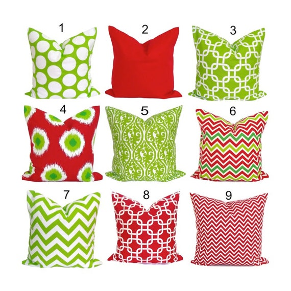 SOLID RED Pillow Covers Red Pillow Cover Decorative Pillow
