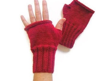 Fingerless Gloves Women, Arm Warmers Red, Hand Warmers Women, Knit Fingerless Gloves Wool, Winter Accessories, Lover Gift, Hand Warmers