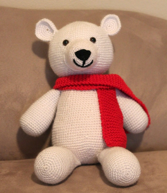 Shaun the polar bear amigurumi crochet pattern dt1010fo