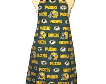 Apron Green Bay Packers Reversible Tailgating Baking Cooking Entertaining