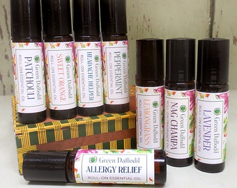 Mix and Match Any 3 Essential Oil Roll-On Aromatheraphy - Vegan - Green Daffodil