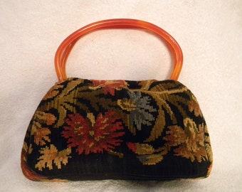 Vintage MM Garland Tapestry Handbag Purse