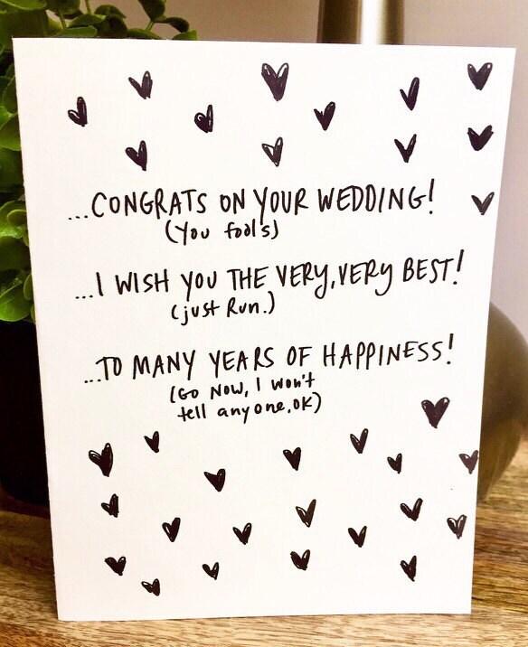 wedding card unique wedding card funny wedding card